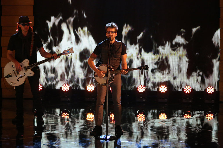 """THE VOICE -- """"Live Show"""" Episode 517A -- Pictured: Will Champlin -- (Photo by: Tyler Golden/NBC)"""