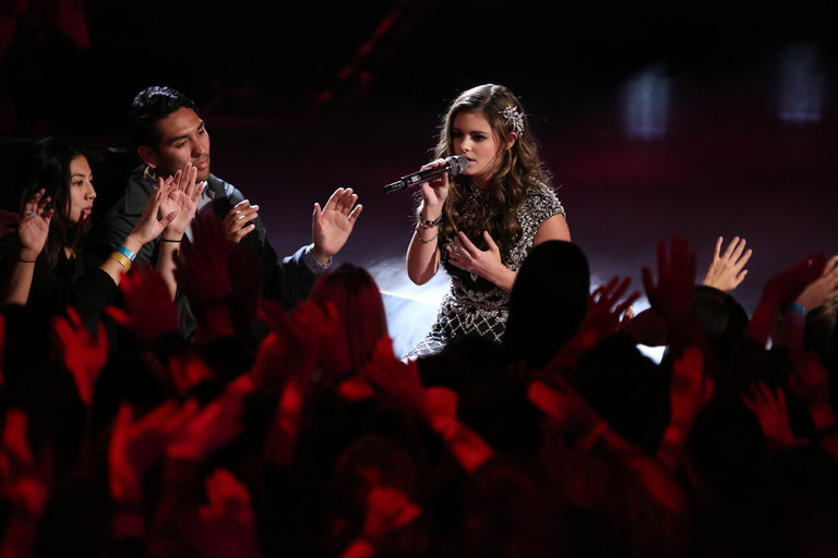 """THE VOICE -- """"Live Show"""" Episode 517A -- Pictured: Jacquie Lee -- (Photo by: Tyler Golden/NBC)"""