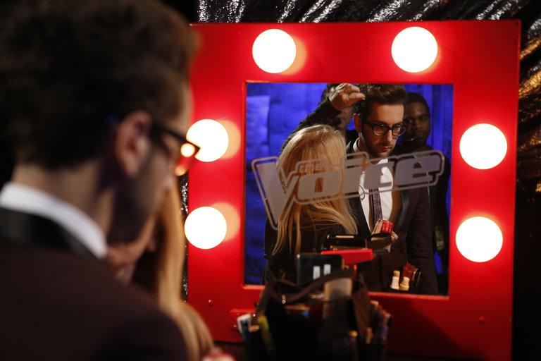 """THE VOICE -- """"Live Show BTS"""" Episode 519A -- Pictured: (l-r) -- (Photo by: Ben Cohen/NBC)"""