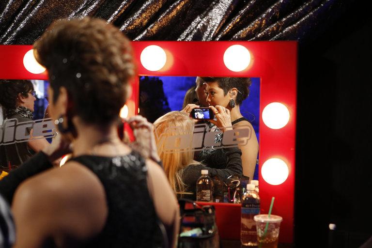 """THE VOICE -- """"Live Finale BTS"""" Episode 519B -- Pictured: (l-r) -- (Photo by: Ben Cohen/NBC)"""