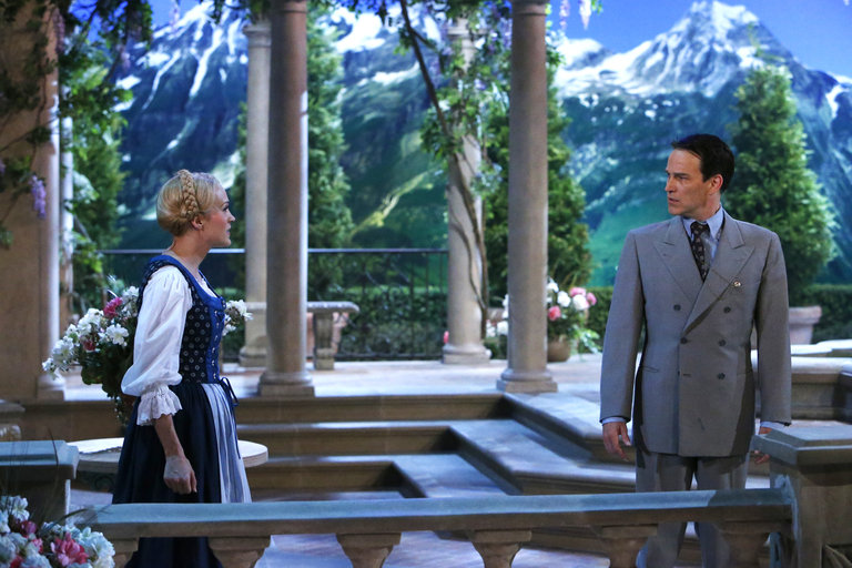 Pictured: (l-r) Carrie Underwood as Maria, Stephen Moyer as Captain Von Trapp -- (Photo by: Will Hart/NBC)