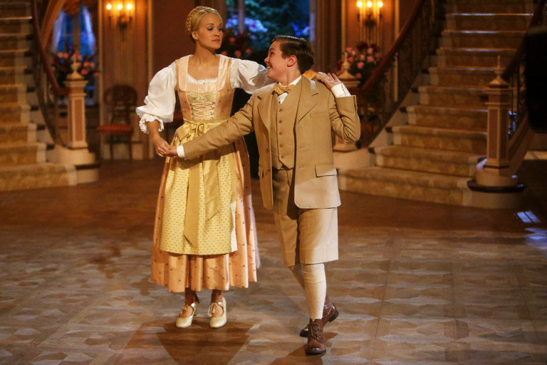 Pictured: (l-r) Carrie Underwood as Maria, Joe West as Kurt -- (Photo by: Will Hart/NBC/NBCU Photo Bank)