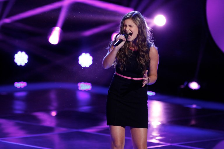 Despite Blake reminding everyone that he won last season of The Voice with a 16-year-old, Jacquie chose Christina as her coach.