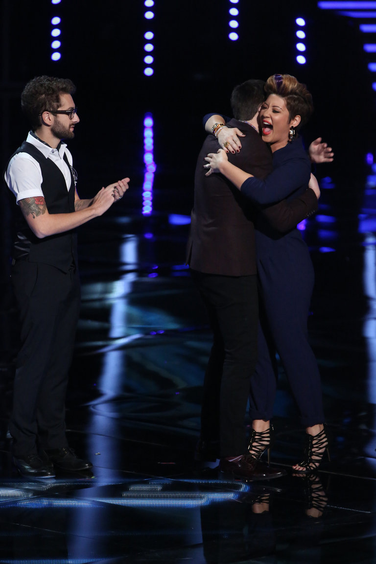 Humble as always, fan favorite Tessanne seemed blown away to advance to the next round.