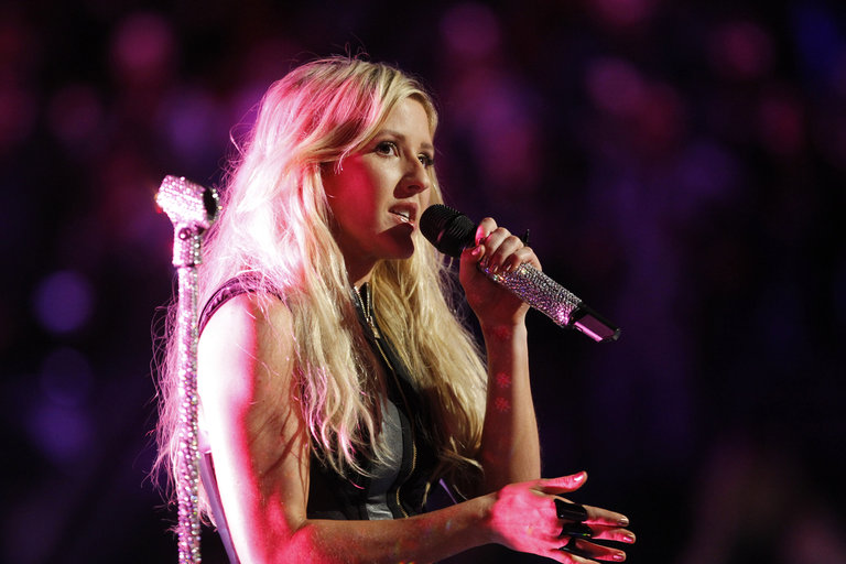 """THE VOICE -- """"Live Show"""" Episode 516B -- Pictured: Ellie Goulding -- (Photo by: Trae Patton/NBC)"""