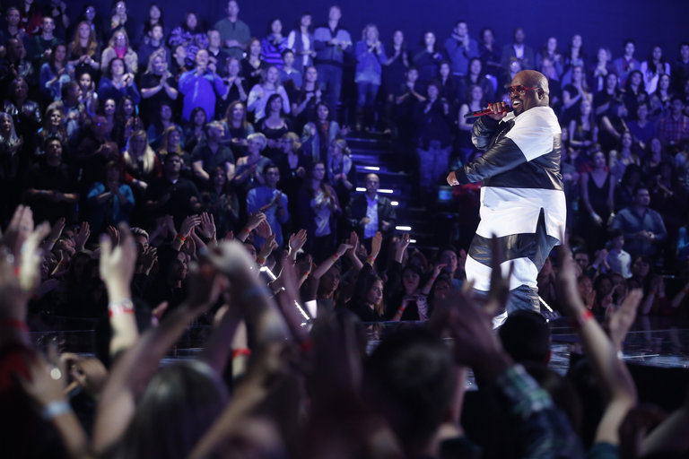 """THE VOICE -- """"Live Show"""" Episode 516B -- Pictured: CeeLo Green -- (Photo by: Trae Patton/NBC)"""