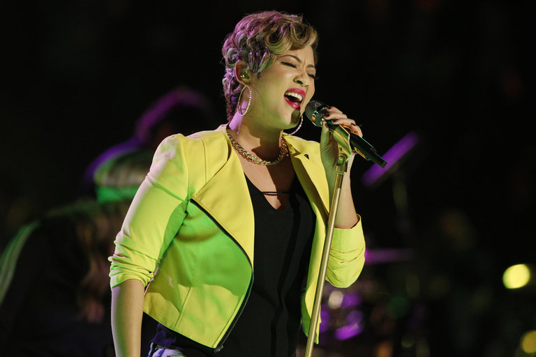"""Tessanne went back to her Jamaican roots for her Top 8 performance, singing No Doubt's reggae-infused """"Underneath It All."""" The song was right in her wheelhouse and easily got her to the quarterfinals."""
