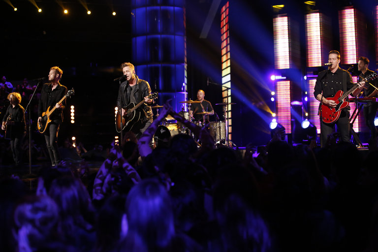 "THE VOICE -- ""Live Finale"" Episode 519B -- Pictured: One Republic  -- (Photo by: Trae Patton/NBC)"