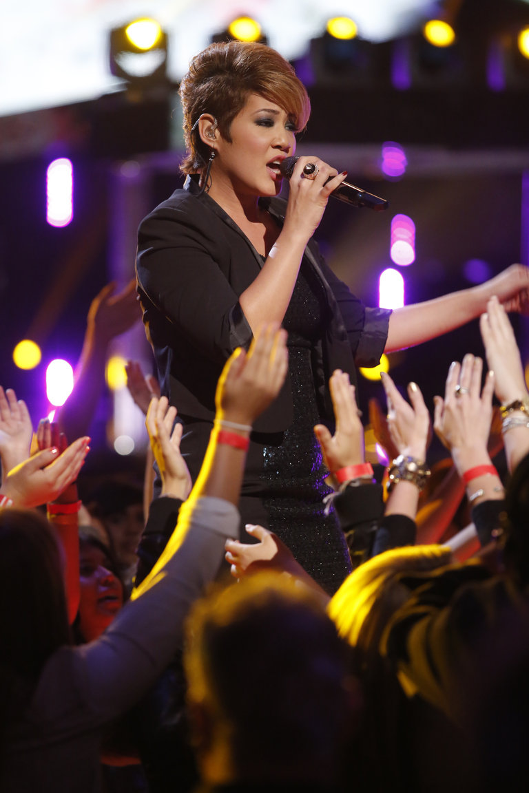 "THE VOICE -- ""Live Show"" Episode 516B -- Pictured: Tessanne Chin -- (Photo by: Trae Patton/NBC)"