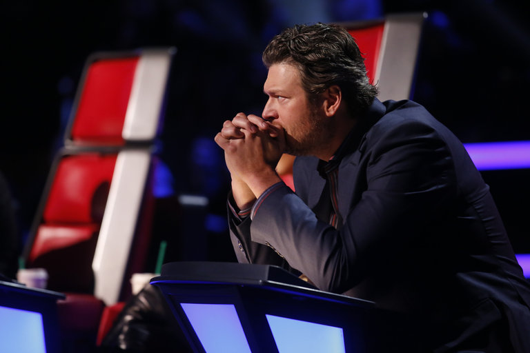 "THE VOICE -- ""Live Show"" Episode 516B -- Pictured: Blake Shelton -- (Photo by: Trae Patton/NBC)"