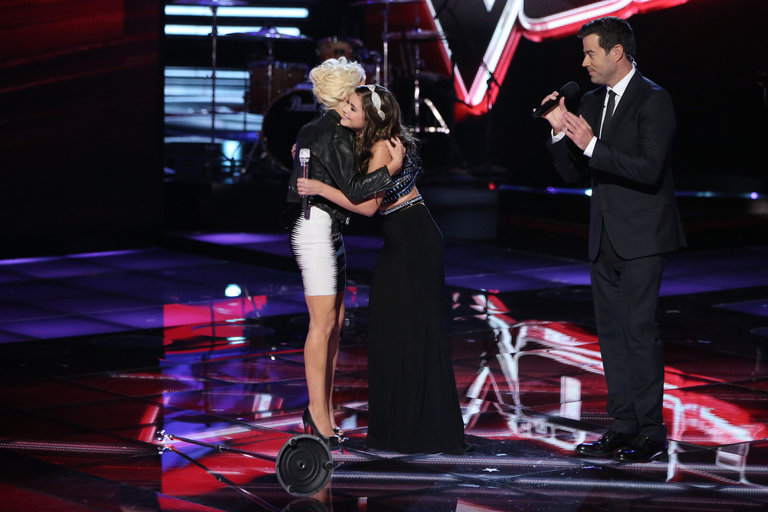 "Her performance of ""Cry Baby"" brought her coach, to whom she'd grown close, onstage for a post-performance hug."
