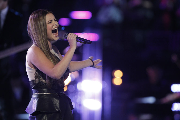 "THE VOICE -- ""Live Show"" Episode 519A -- Pictured: Jacquie Lee -- (Photo by: Trae Patton/NBC)"