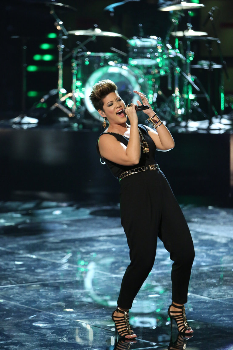 "For the finals, Tessanne still had some untapped depths to show us. First, she took on another powerhouse female singer with Whitney Houston and her song ""I Have Nothing."""