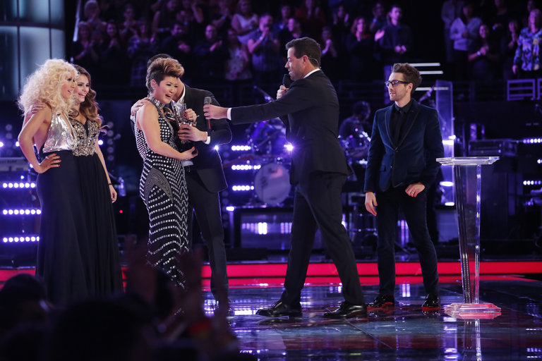 Finally it was time to crown The Voice. Tessanne stood onstage clutching hands with fellow finalists Will and Jacquie. When the winner was announced, it was Tessanne, the humble singer from Jamaica, who had come out on top.
