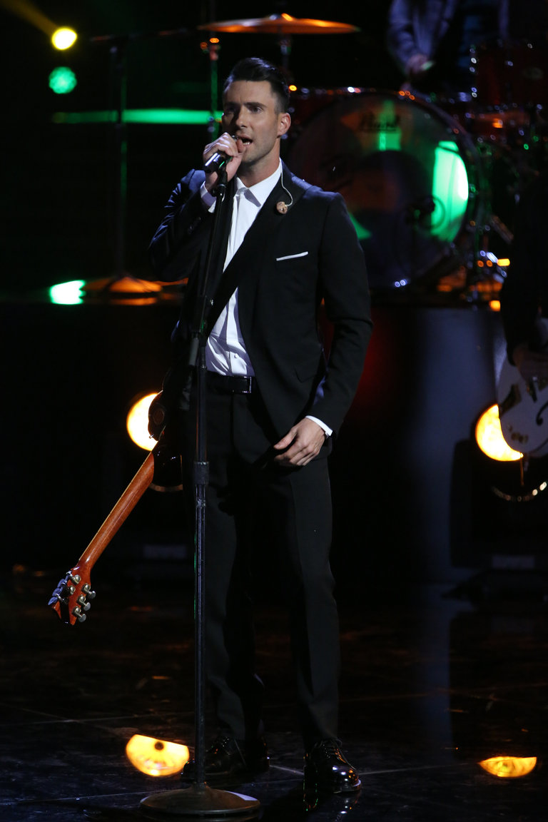 "THE VOICE -- ""Live Show"" Episode 519A -- Pictured: Adam Levine -- (Photo by: Tyler Golden/NBC)"