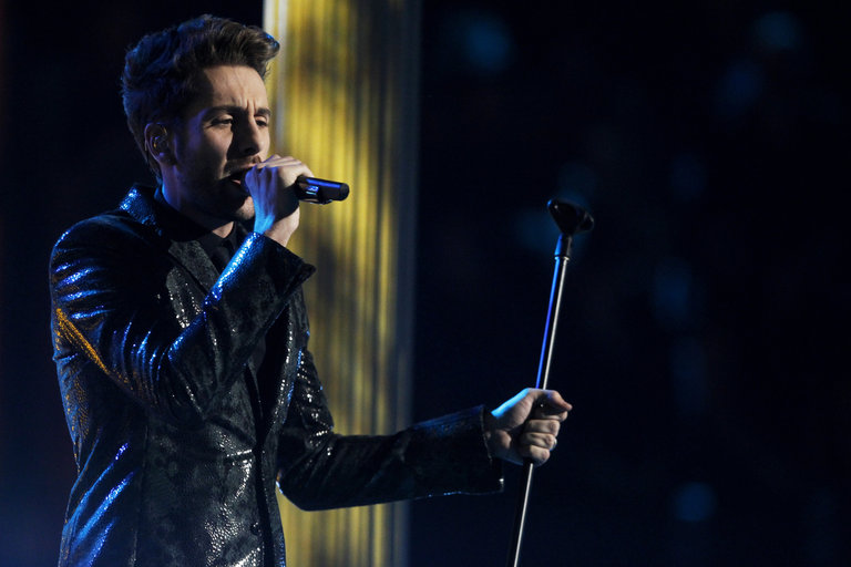 "THE VOICE -- ""Live Show"" Episode 519A -- Pictured: Will Champlin -- (Photo by: Trae Patton/NBC)"