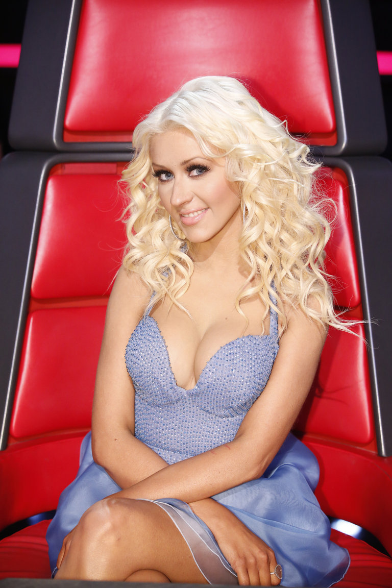 "THE VOICE -- ""Live Show"" Episode 519A -- Pictured: Christina Aguilera -- (Photo by: Trae Patton/NBC)"