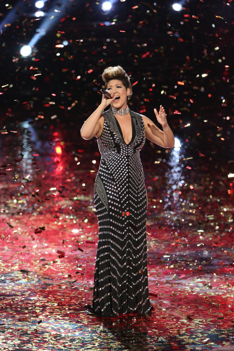 "THE VOICE -- ""Live Finale"" Episode 519B -- Pictured: Tessanne Chin -- (Photo by: Tyler Golden/NBC)"