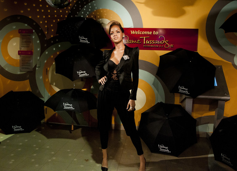 """Rihanna"" Wax Figure Debuts At Madame Tussauds"