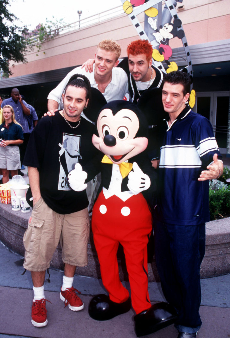 *NSYNC Visits Disney World - Candids and On Stage