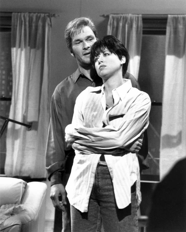 PATRICK SWAZYE AS SAM, VICTORIA JACKSON AS MOLLY,GHOST, 10/27/90