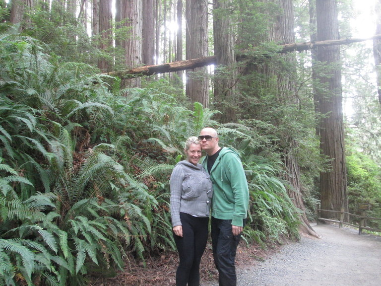 A romantic hike through the Trees Of Mystery