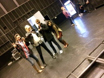 At a stage rehearsal! Karla, Nicolle, Pip and I being crazy:)