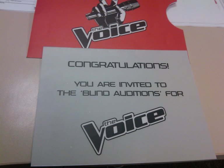 Blind Audition Invite - IN MY CUBICLE!