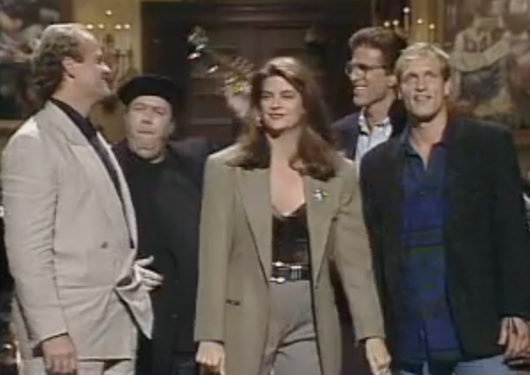 Cheers cast during the Kirstie Alley monologue