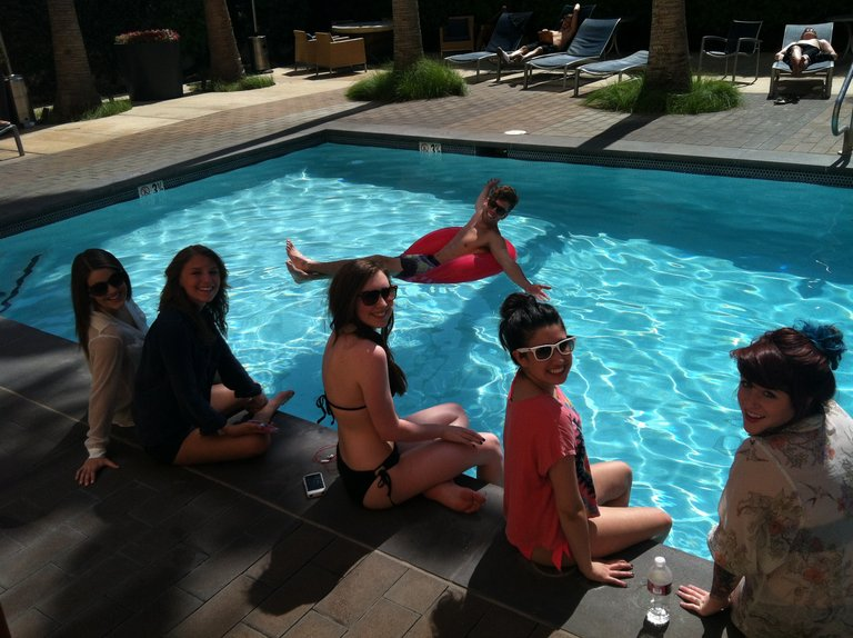 Chillin' Poolside