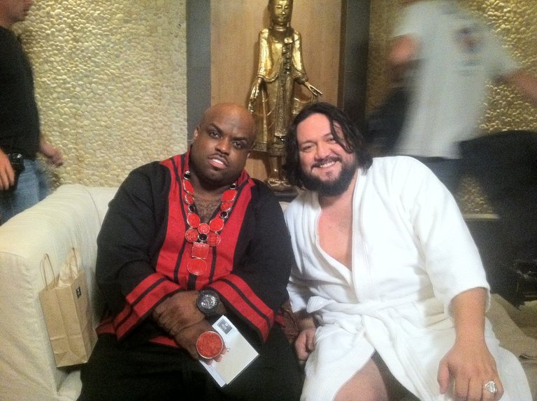 Chillin' with Coach Cee Lo at the spa