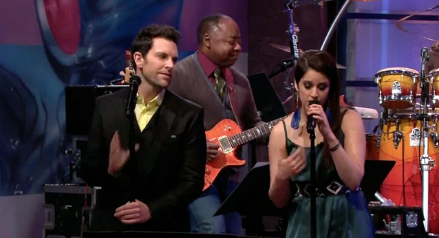 Chris + Lindsey sing on Jay Leno