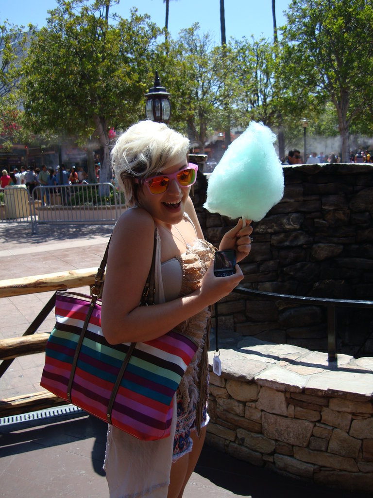 Cotton candy for breakfast!? No. I'm serious.