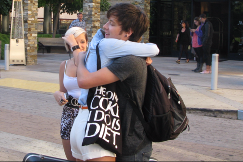 Crying saying goodbye to my best friend Brantley Pollock after the blind auditions. ):