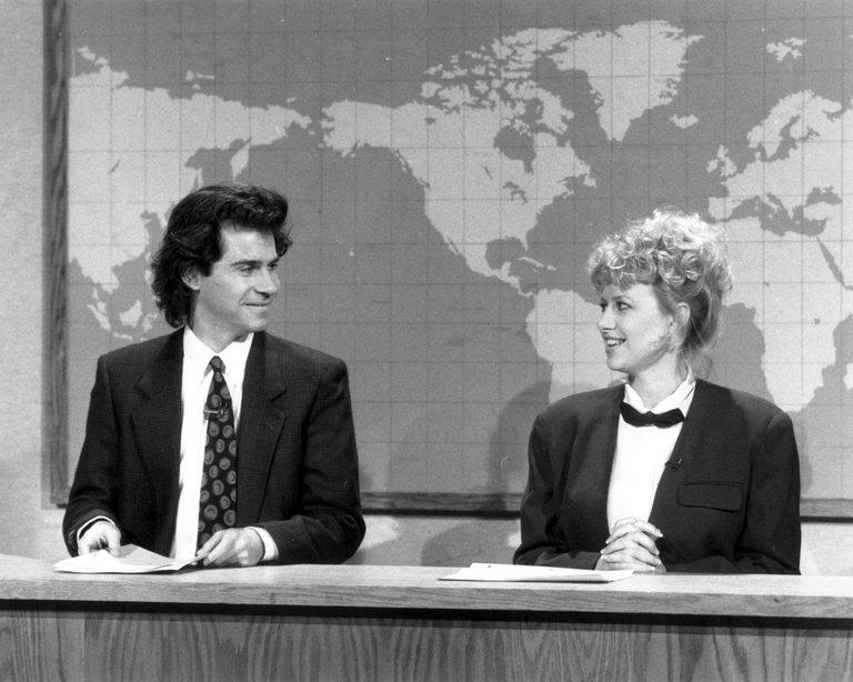 DENNIS MILLER, VICTORIA JACKSON, WEEKEND UPDATE, 1990-1991