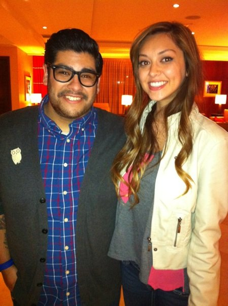 Daniel Rosa and I back at the hotel after we made teams! :) So exciting!