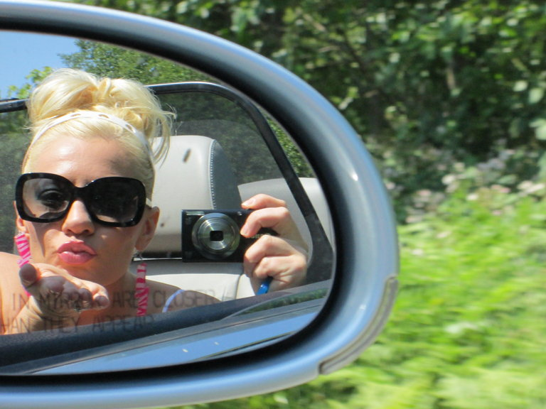 Duckface in the rear view
