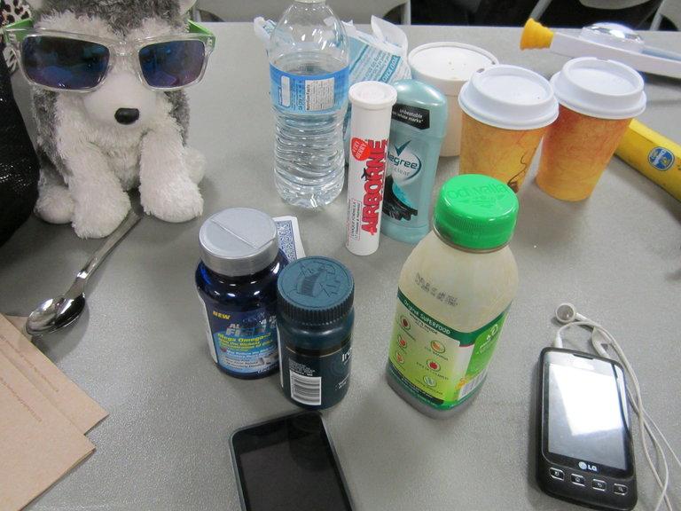 Everything except the kitchen sink...Pre-BATTLE supplies. RAWK!!