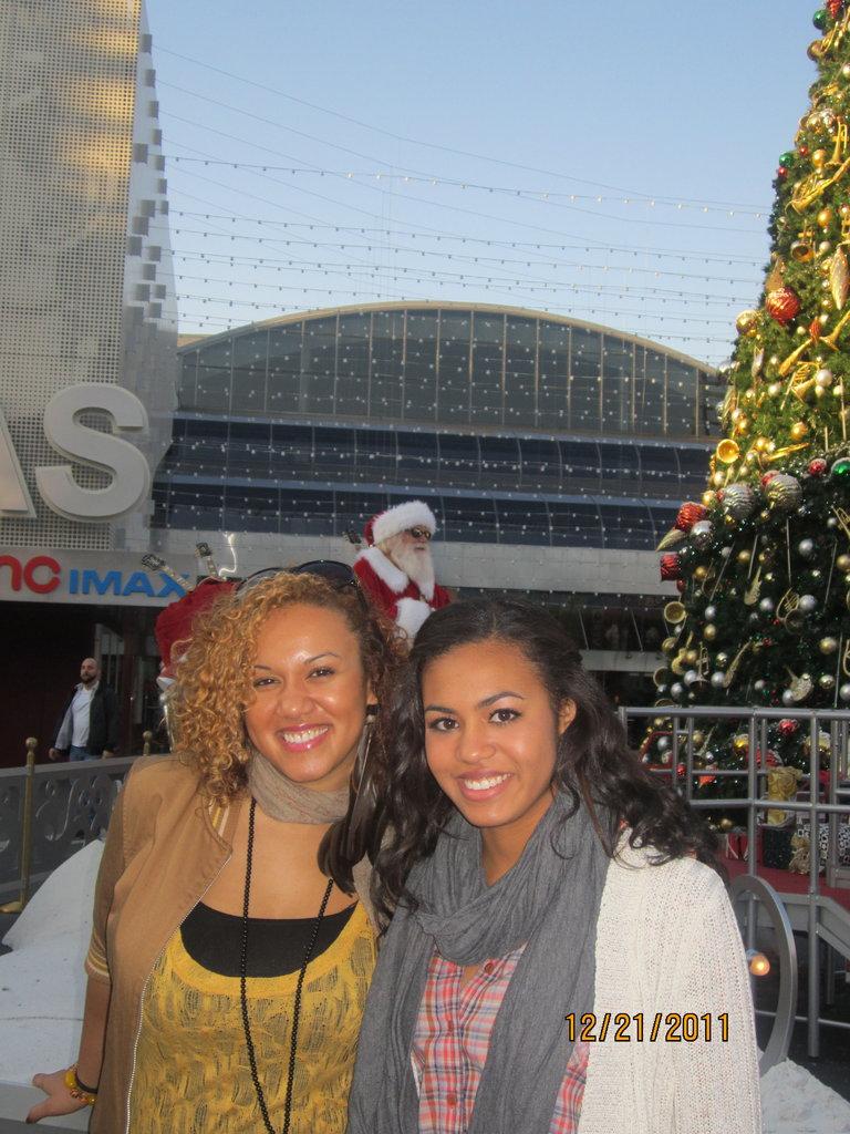Family friend, Honey, and I at City Walk