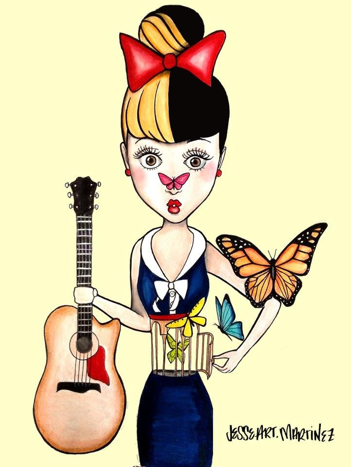 Fan Cartoon drawing of Melanie