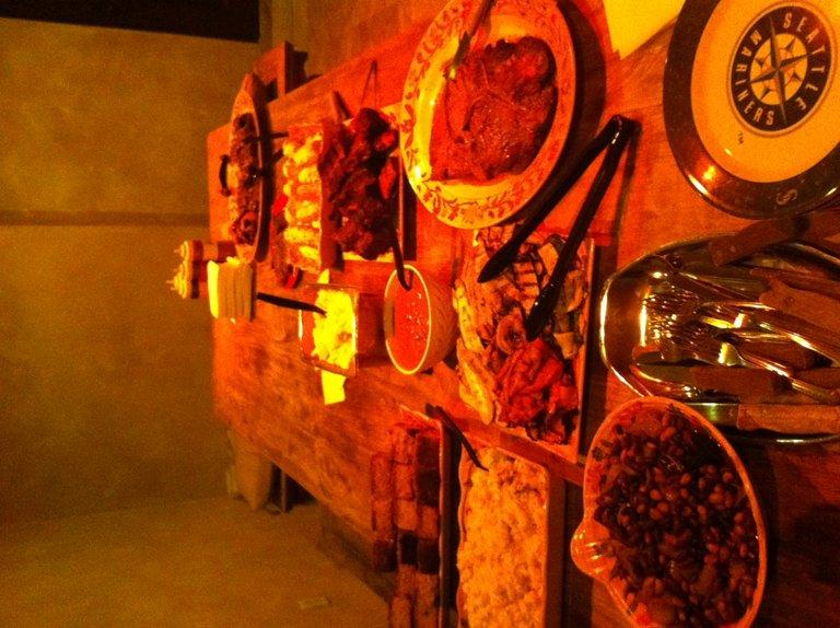 Food table at Blakes