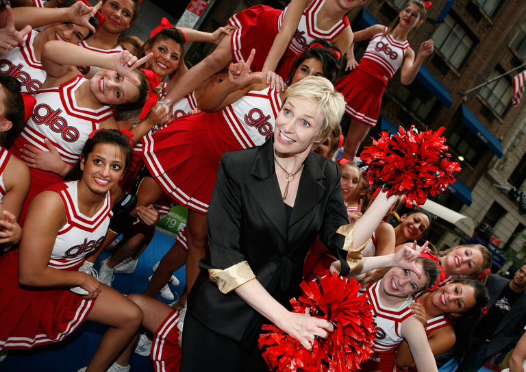 Glee Cheerleaders Exclusive Performance at Fox's Upfront Presentation