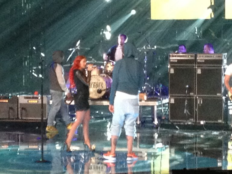 Gym Class Heroes and Neon Hitch rehearsing!