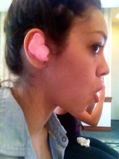 In ear fittings. I look so funny! :D