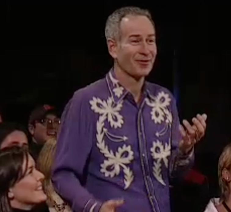 John McEnroe during the Andy Roddick monologue