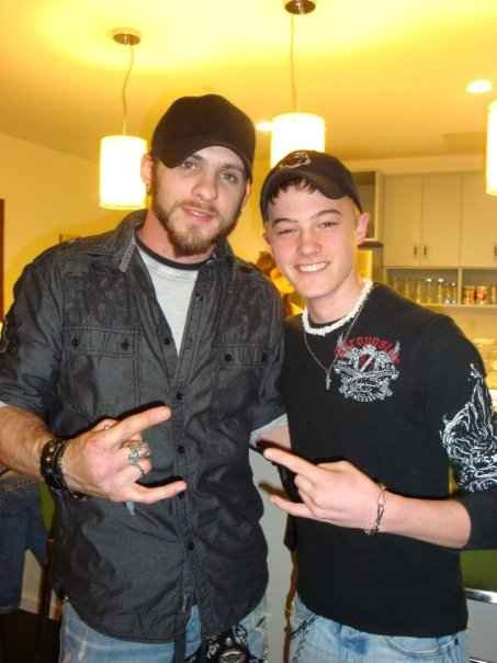 Jordan Rager with Brantley Gilbert