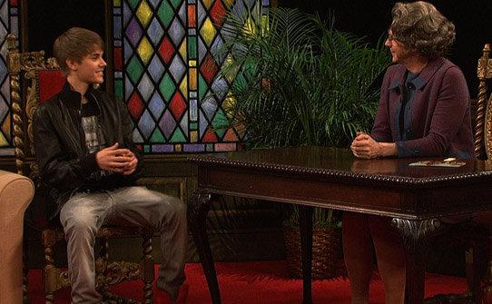 Justin Bieber talking to Church Lady