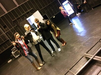 Karla, Nicolle, Pip, and I acting a littl cray during rehearsals!
