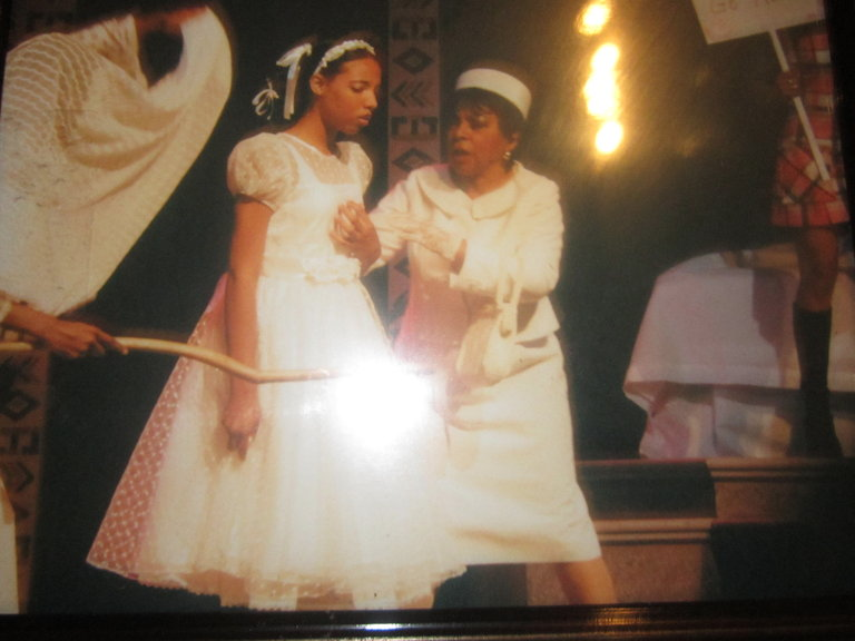 ME AND THE LEGENDARY RUBY DEE IN 'FLYING OVER PURGATORY' AT AGE 14. SHE IS AMAZING!