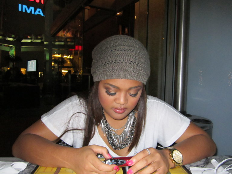MY BUDDY CHEESA, ON THE PHONE AS USUAL LOL=)